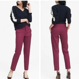 Banana republic raspberry Ryan ankle pants